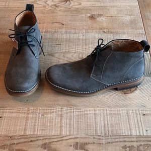 Cloud 9 brown-gray leather boots for men